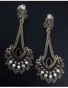 Boucles d'oreilles clips tendance bohème chic en métal vieilli