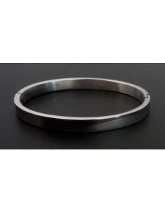 Bracelet jonc acier inoxydable motif ondulation