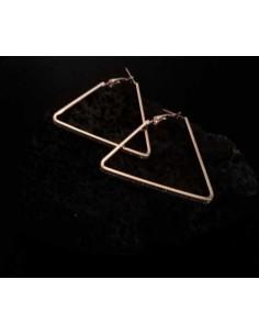Boucles d'oreilles créoles pailletées géométriques triangles 4 cm