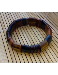 Bracelet carré oeil de tigre pierre naturelle