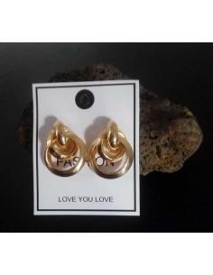 Boucles d'oreilles doubles anneaux design 3 cm