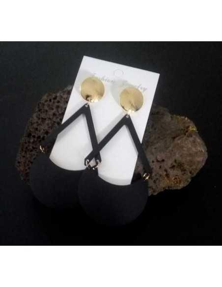 Boucles d'oreilles pendantes géométriques tendance 5 cm