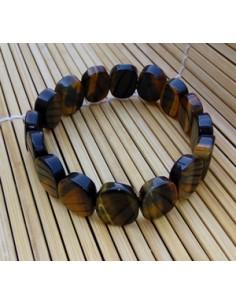 Bracelet ovale oeil de tigre pierre naturelle