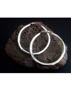 Créoles tube rondes 6 cm
