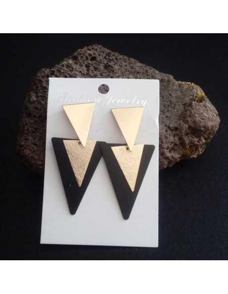 Boucles d'oreilles triangulaires tendance fantaisie 5 cm