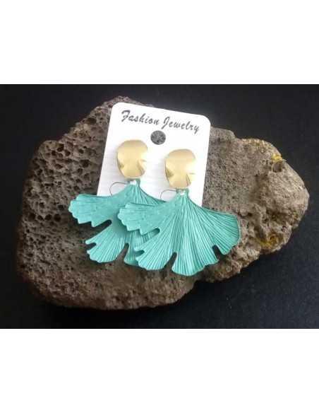 Boucles d'oreilles feuilles originales tendances couleurs 5 cm