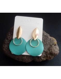 Boucles d'oreilles rondes pendantes couleur 4.5 cm