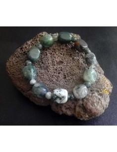 Bracelet labradorite pierres cubiques & boules
