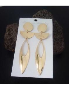 Boucles d'oreilles pendantes fantaisie géométrique