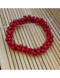 Bracelet corail reconstitué perles fantaisie