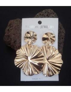 Boucles d'oreilles fleurs rondes style design