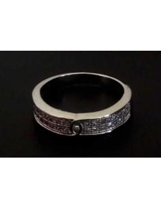 Lot de 12 bagues anneaux sertis de zirconiums tailles 16 à 20