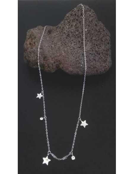 Collier acier inoxydable étoiles avec nacre
