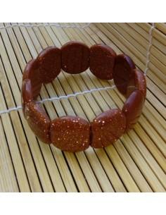 Bracelet ovale 2 cm pierre du soleil naturelle marron