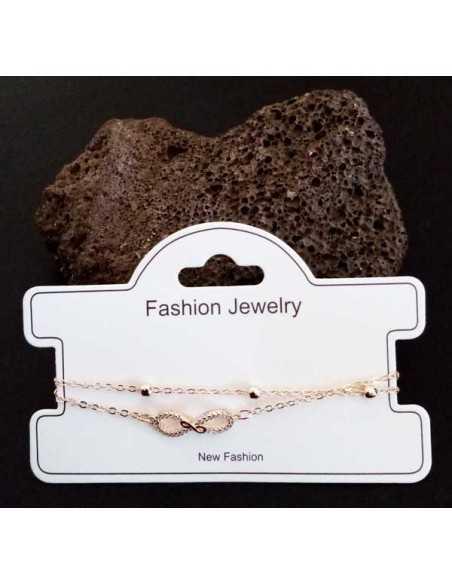 Bracelet fantaisie pendentif infini et zircon