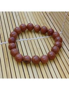Bracelet perles 1 cm pierre du soleil naturelle marron