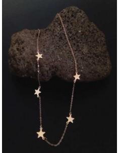 Collier acier inoxydable motif petites étoiles