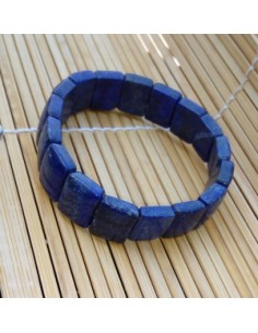 Bracelet rectangle lapis-lazuli pierre naturelle