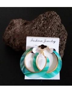 Créoles fantaisie motifs bijoux géométriques