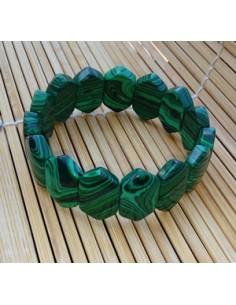 Bracelet losange malachite pierre reconstituée