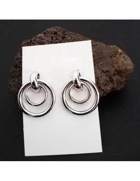 Créoles double anneaux design