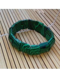 Bracelet carré malachite pierre reconstituée