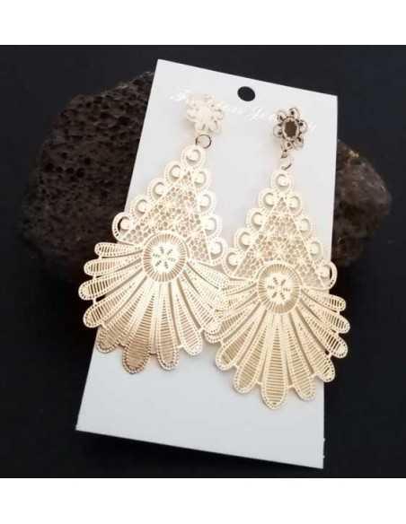 Boucles d'oreilles orientales motifs Bollywood