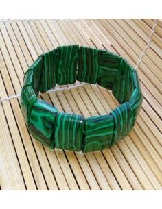 Bracelet rectangle malachite pierre reconstituée