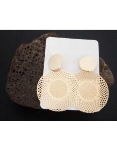 Boucles d'oreilles créoles rondes motifs filigrane mandalas