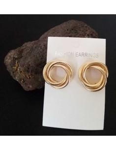 Créoles 3 anneaux texturés enchevêtrés