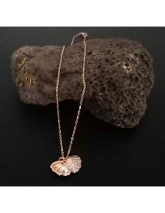 Collier acier inoxydable pendentif coquillage avec perle