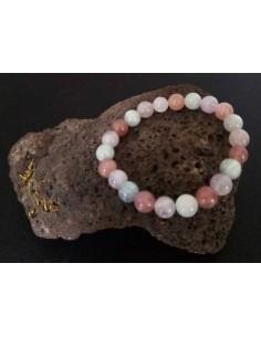 Bracelet quartz dream lavender pierres boules 8 mm
