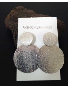 Boucles d'oreilles créoles rondes pailletées