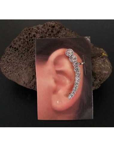 Bijoux d'oreilles motif perles strass dégradées