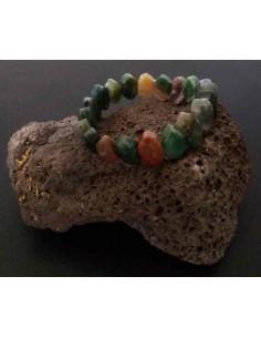 Bracelet agate indienne pierres dentelées