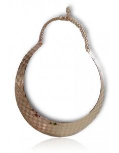 Collier ras de cou motif carrées géométriques
