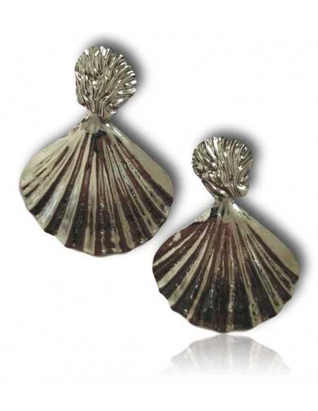 Boucles d'oreilles fantaisie coquillages pendantes