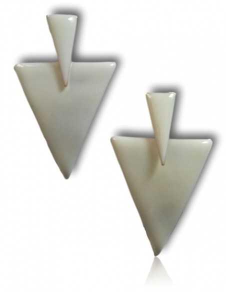 Boucles d'oreilles triangles couleur pendantes