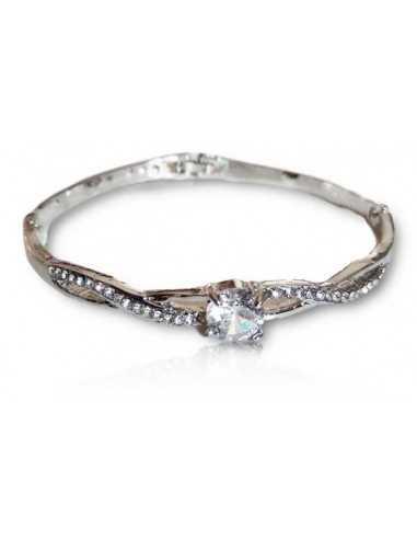Bracelet jonc avec zirconium au centre