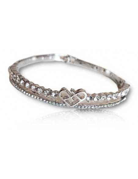 Bracelet jonc motif coeur graphique