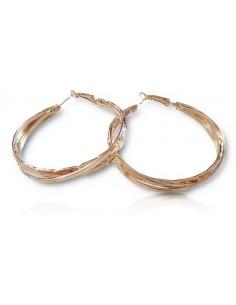 Boucles d'oreilles créoles 3 anneaux avec motifs