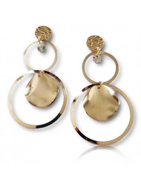 Boucles d'oreilles pendantes anneaux fantaisie