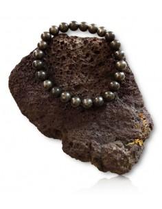 Bracelet pyrite pierres boules 8 mm