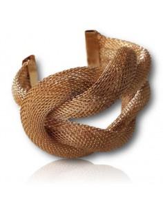 Bracelet manchette ouvert motif noeud marin