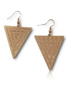 Boucles d'oreilles triangle inversé motifs ethniques