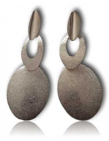 Boucles d'oreilles pendantes fantaisie pailletées