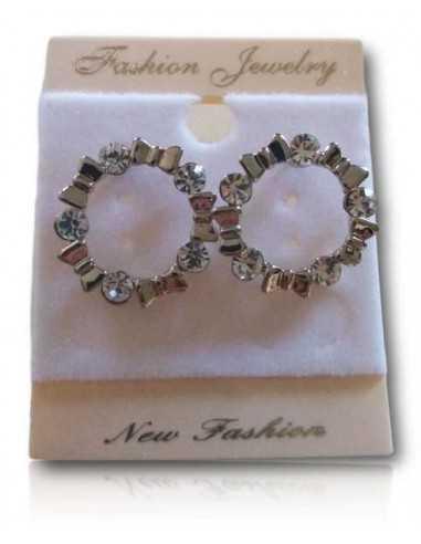 Boucles d'oreilles puces anneau et motif noeuds