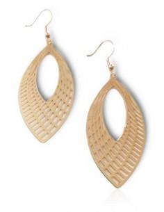 Boucles d'oreilles gouttes pointe ouverte motifs géométriques