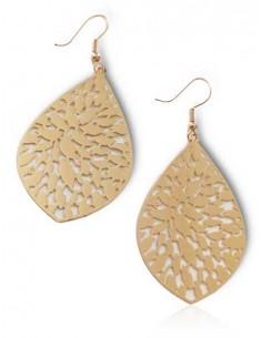 Boucles d'oreilles gouttes forme feuilles