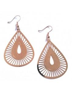 Boucles d'oreilles gouttes fantaisie motifs geométriques texturés